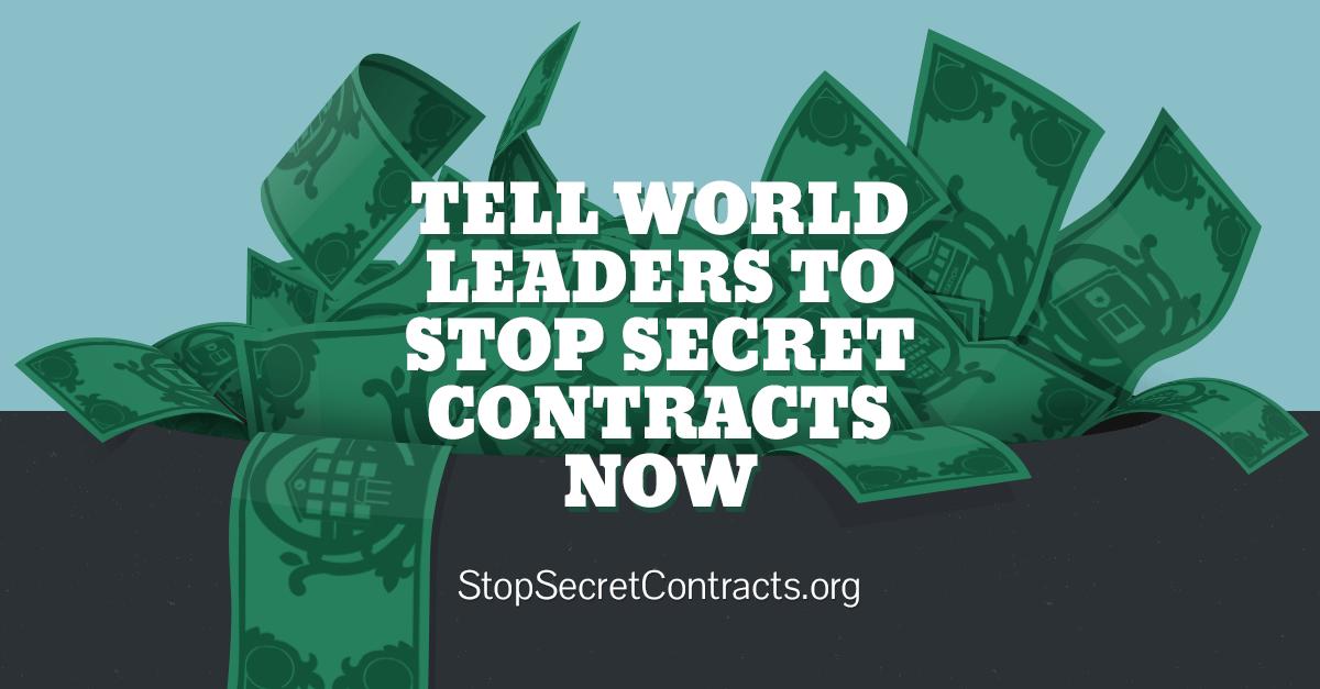 Stop Secret Contracts Promo